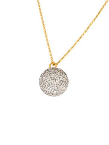 Gurhan Pavé Diamond Delicate Pendant Necklace