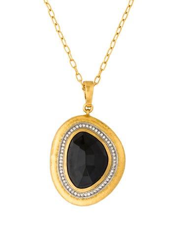 Gurhan Elements Onyx Pendant Necklace