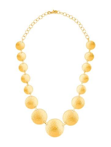 Gurhan 24K Reversible Circle Link Necklace