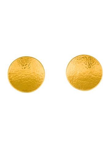 Gurhan 24K Hourglass Ear Clip Earrings