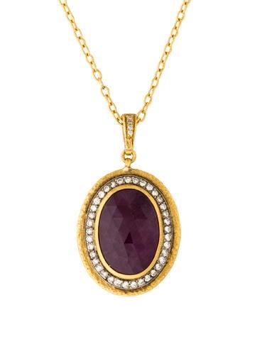 Gurhan Pandora's Box Ruby & Diamond Pendant Necklace