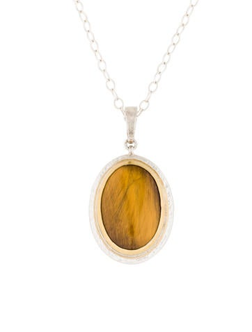 Gurhan Tiger's Eye Galapagos Pendant Necklace w/ Tags None