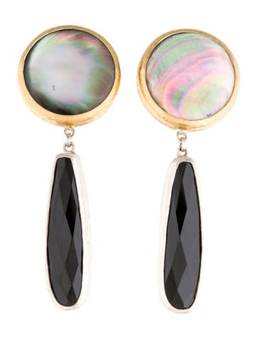 Gurhan Mother of Pearl & Spinel Galapagos Drop Earrings w/ Tags