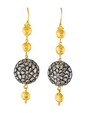 Gurhan Diamond Spell Drop Earrings Earrings Gur21626