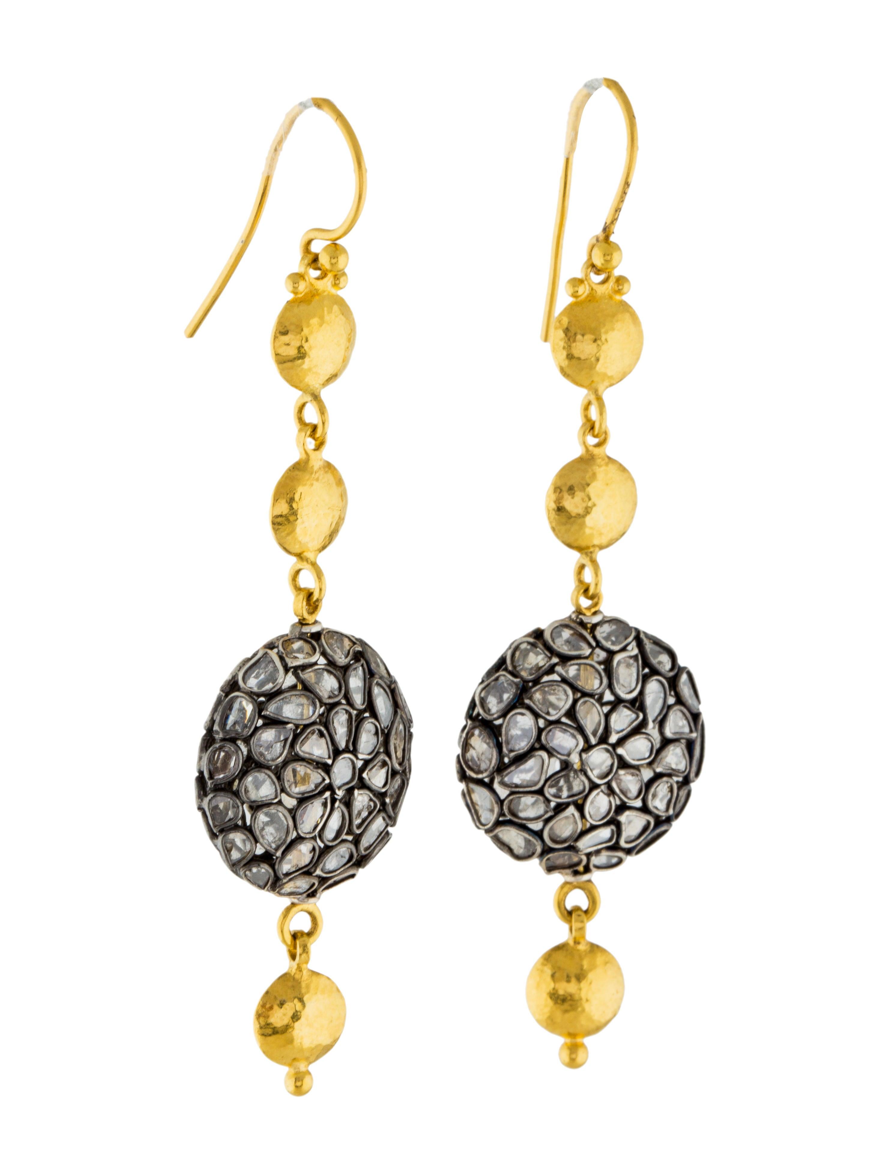 Gurhan Diamond Spell Drop Earrings - Earrings