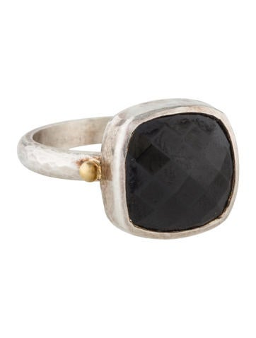 Gurhan Black Spinel Storm Ring None
