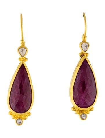 Gurhan 24k One-of-a-Kind Ruby Drop Earrings f4CWGNcrF