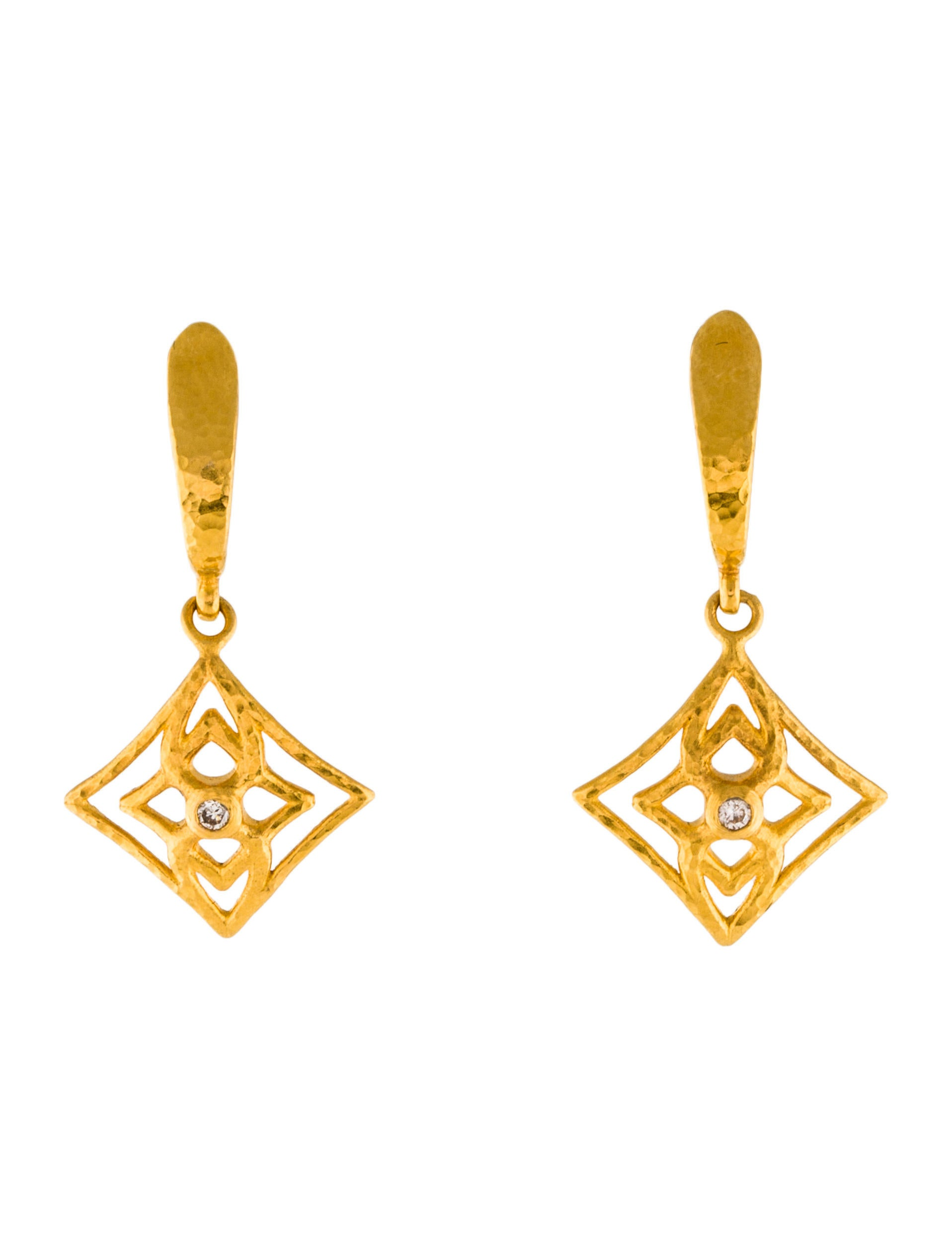 Gurhan 22k Topkapi Diamond Drop Earrings u6G5Qc