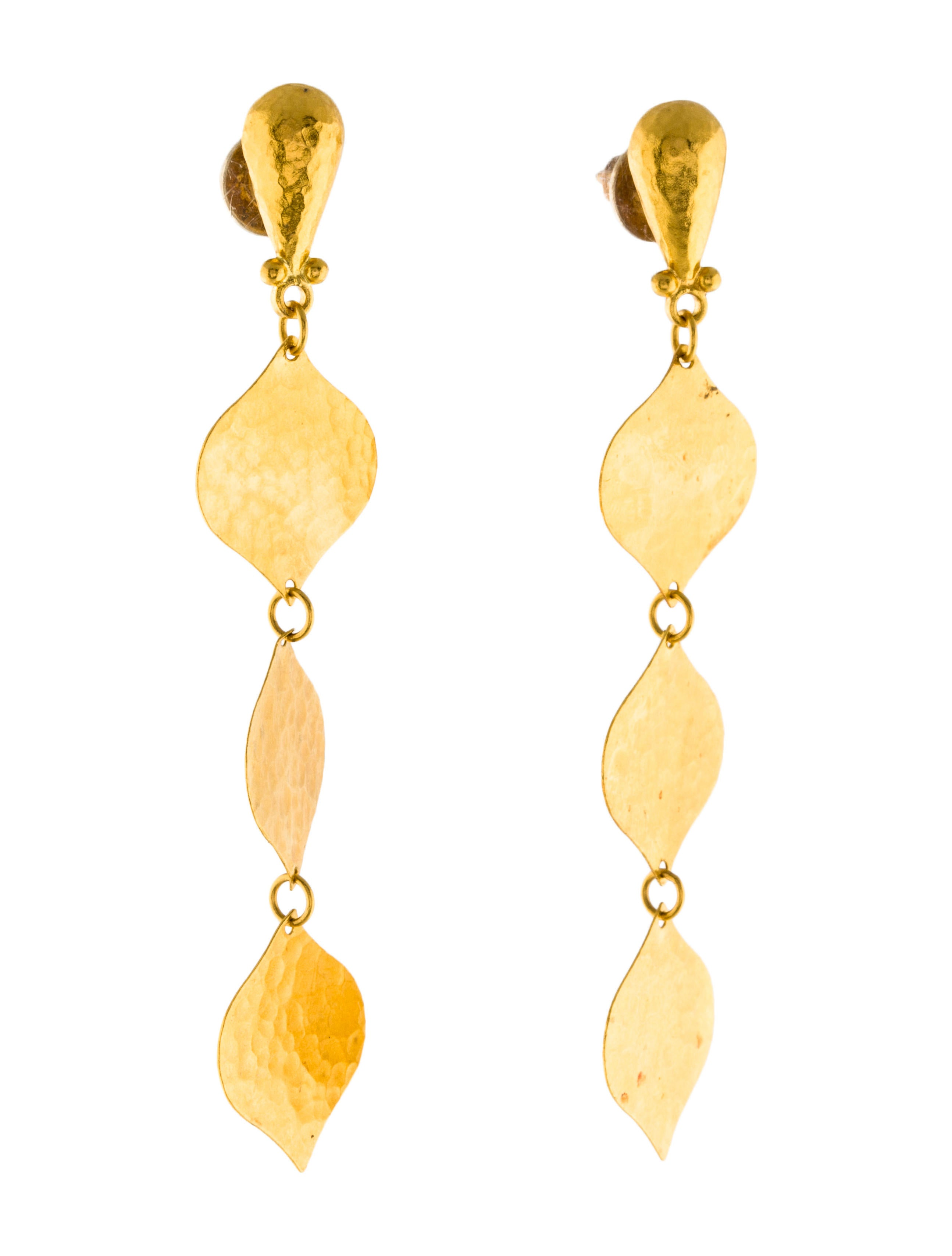 Gurhan 24k Triple-Drop Clove Flake Earrings wlat3U50