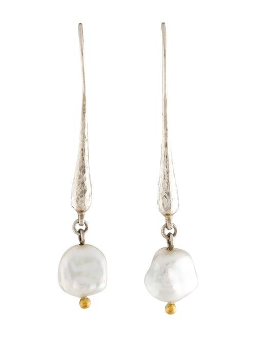 Gurhan Pearl Drop Earrings silver