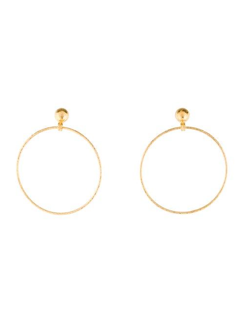 Gurhan Circle Drop Earrings yellow