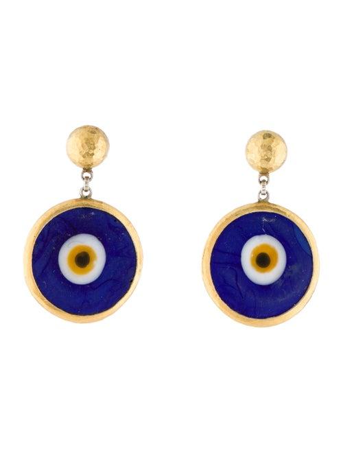 Gurhan Evil Eye Drop Earrings yellow