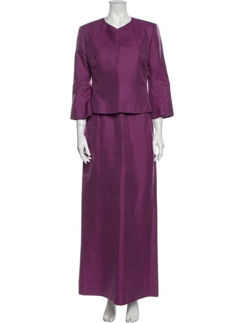 Guy Laroche Strapless Long Dress Purple