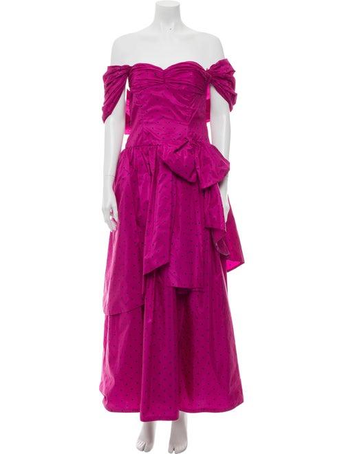 Guy Laroche Silk Long Dress Pink