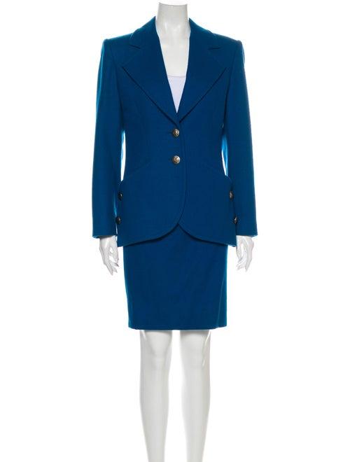 Guy Laroche Virgin Wool Skirt Suit Wool