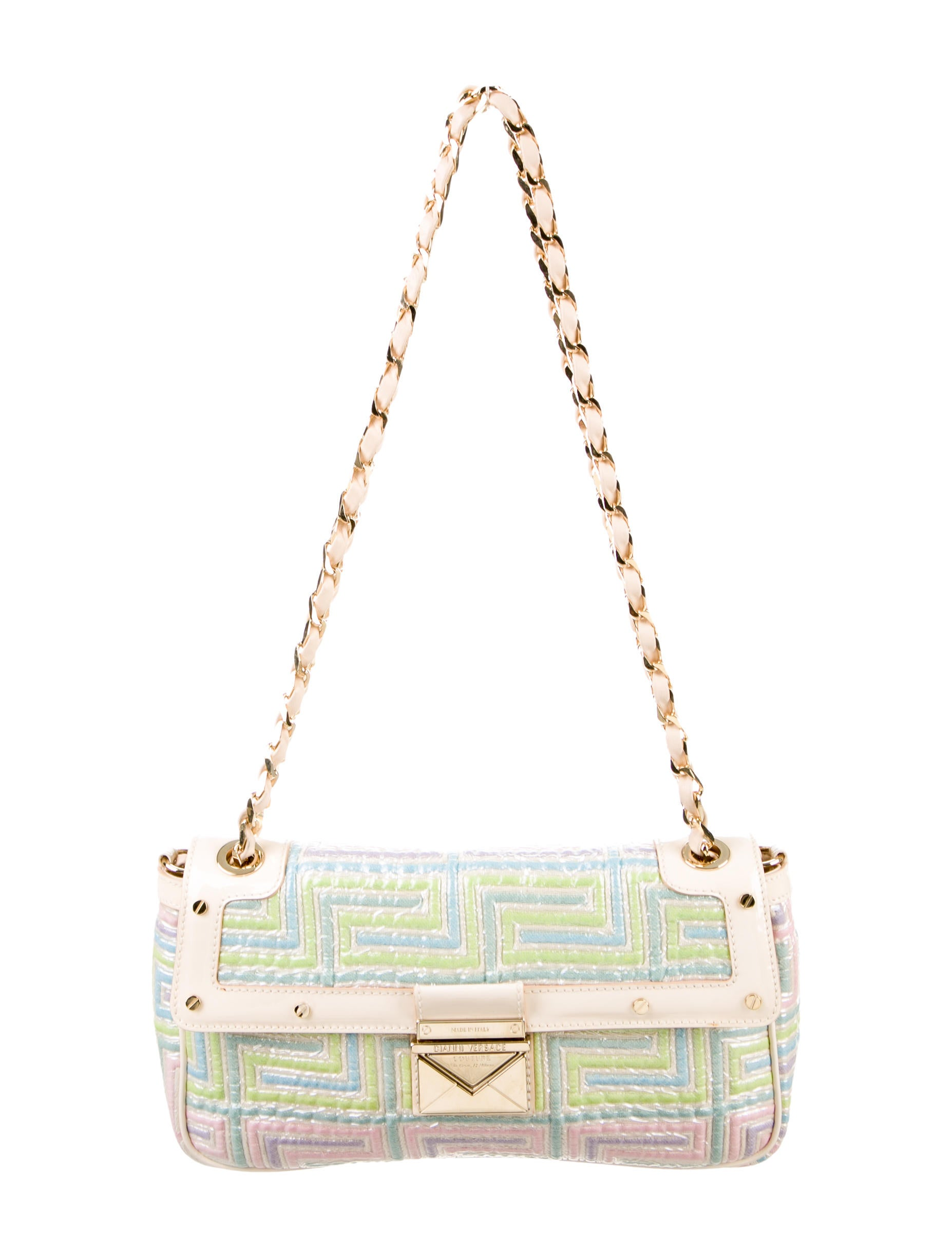31e198ff5b Gianni Versace Couture Quilted Shoulder Bag - Handbags - GVE20299 ...