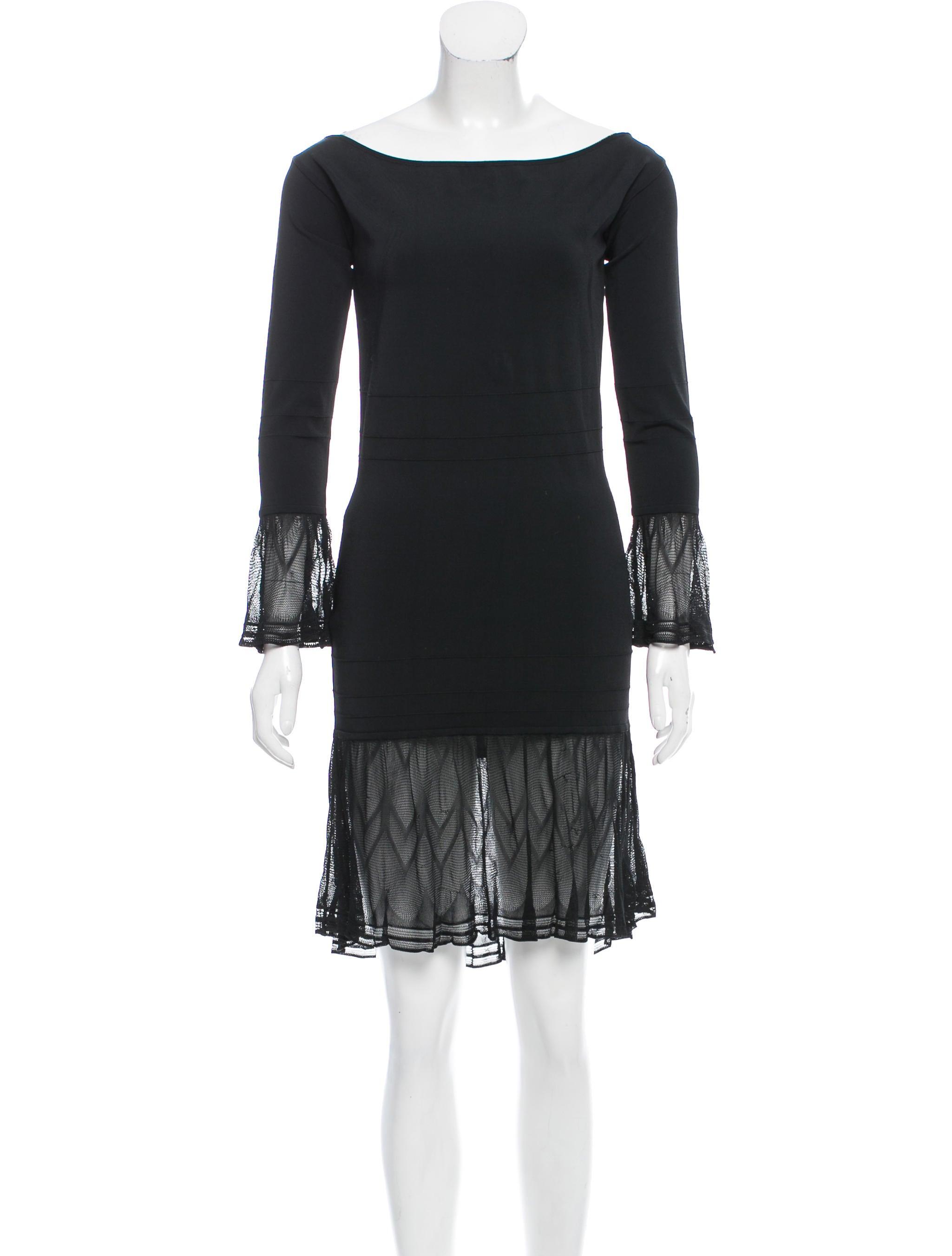 gianni versace vintage knit mini dress clothing