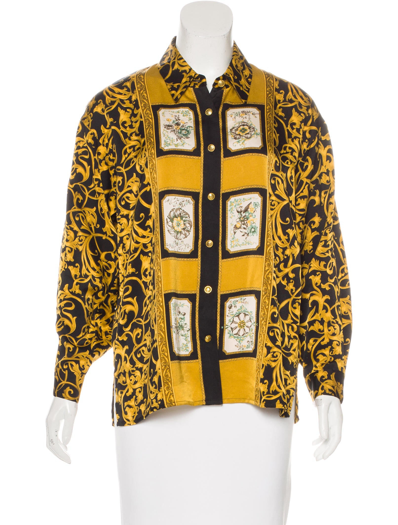 gianni versace vintage silk top clothing gve20587