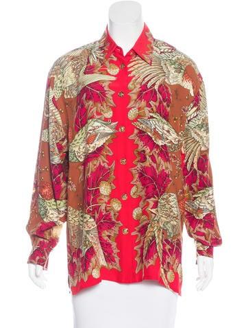 gianni versace vintage silk top clothing gve20589