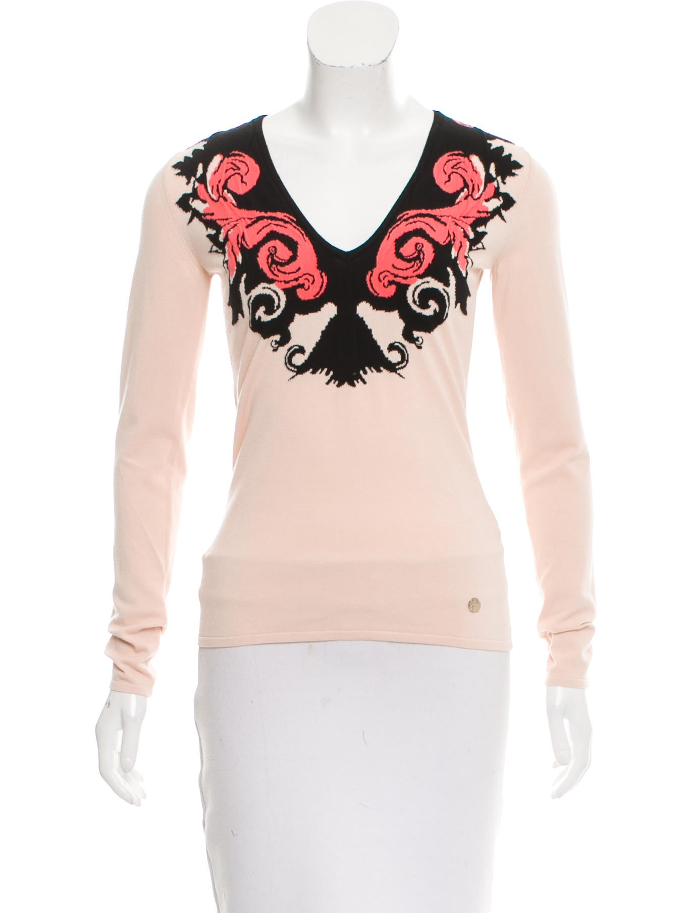 Gianni Versace Embroidered Long Sleeve Top Clothing