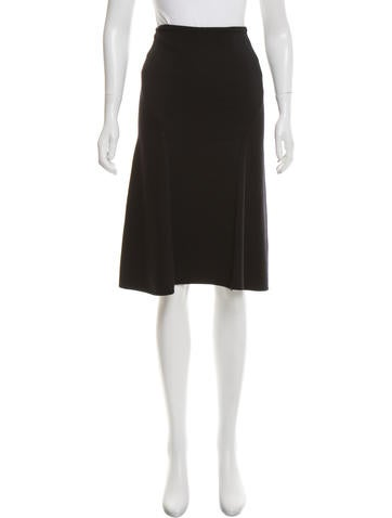 Gianni Versace Knit A-Line Skirt None