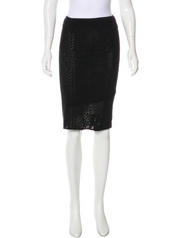 Gianni Versace Knit Knee-Length Skirt None