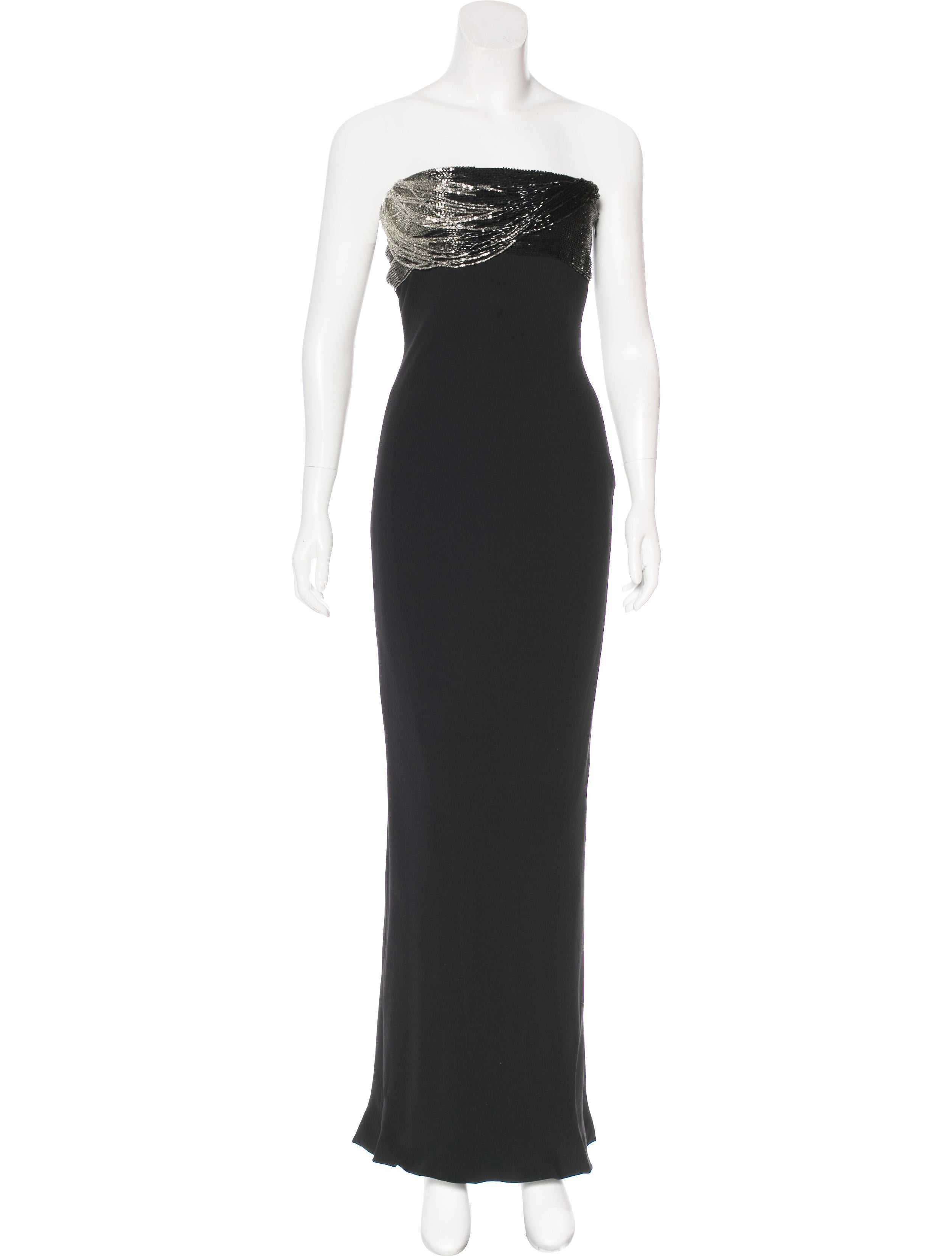 Gianni Versace Beaded Silk Evening Dress - Clothing - GVE20901   The ...