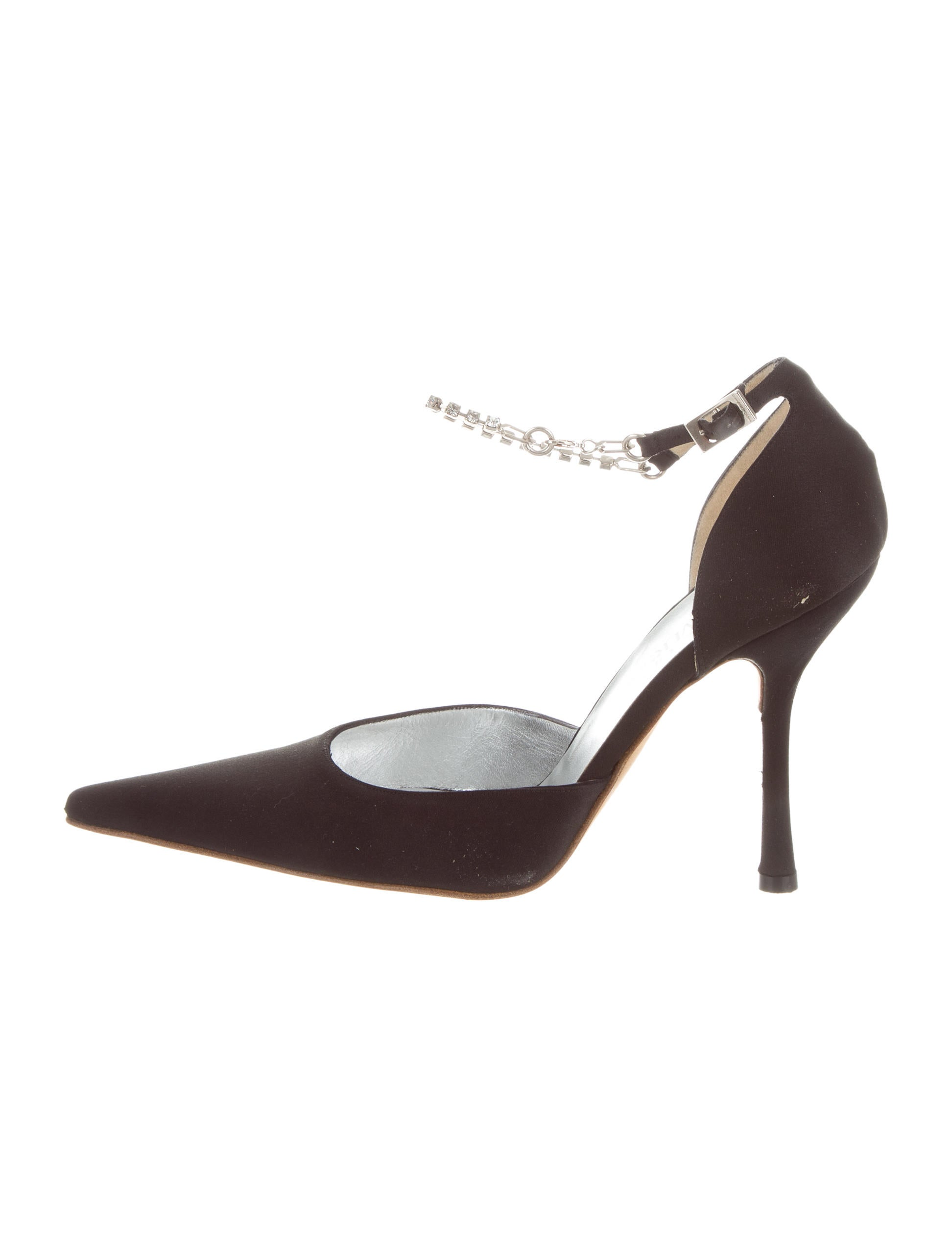 Gianni Versace Satin Pointed-Toe Pumps factory outlet online buy cheap deals clearance low price from china online free shipping marketable 1gzVO