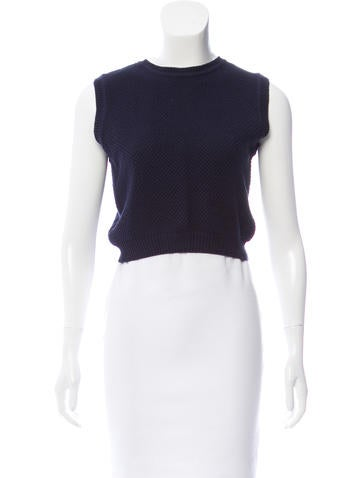 Gianni Versace Sleeveless Knit Top None