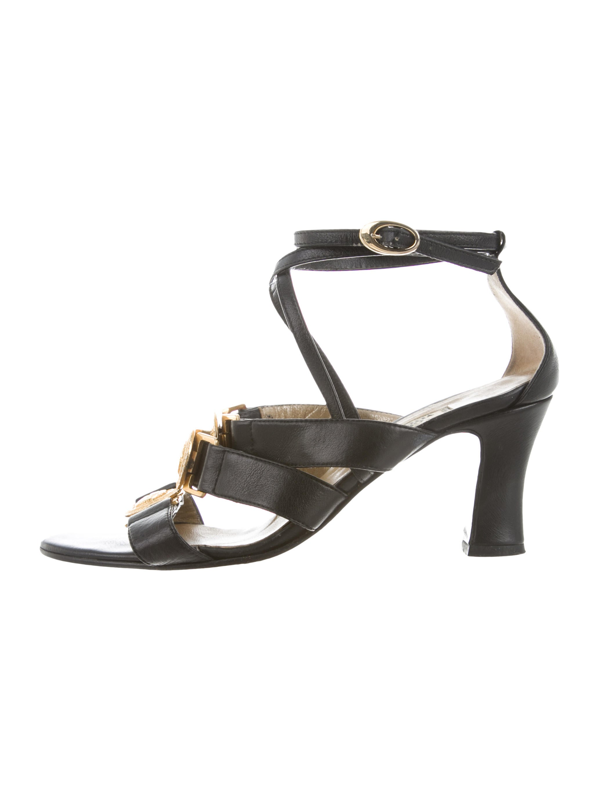 Gianni Versace Medusa Multistrap Sandals clearance high quality newest cheap price sale cheap price discount high quality sale 2014 unisex NpzpczIg1