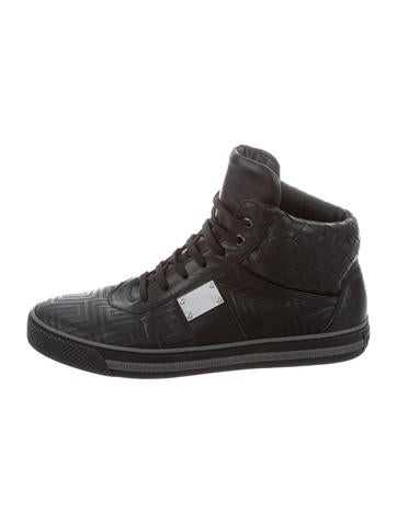 Product NameGianni Versace Grecca Leather Sneakers