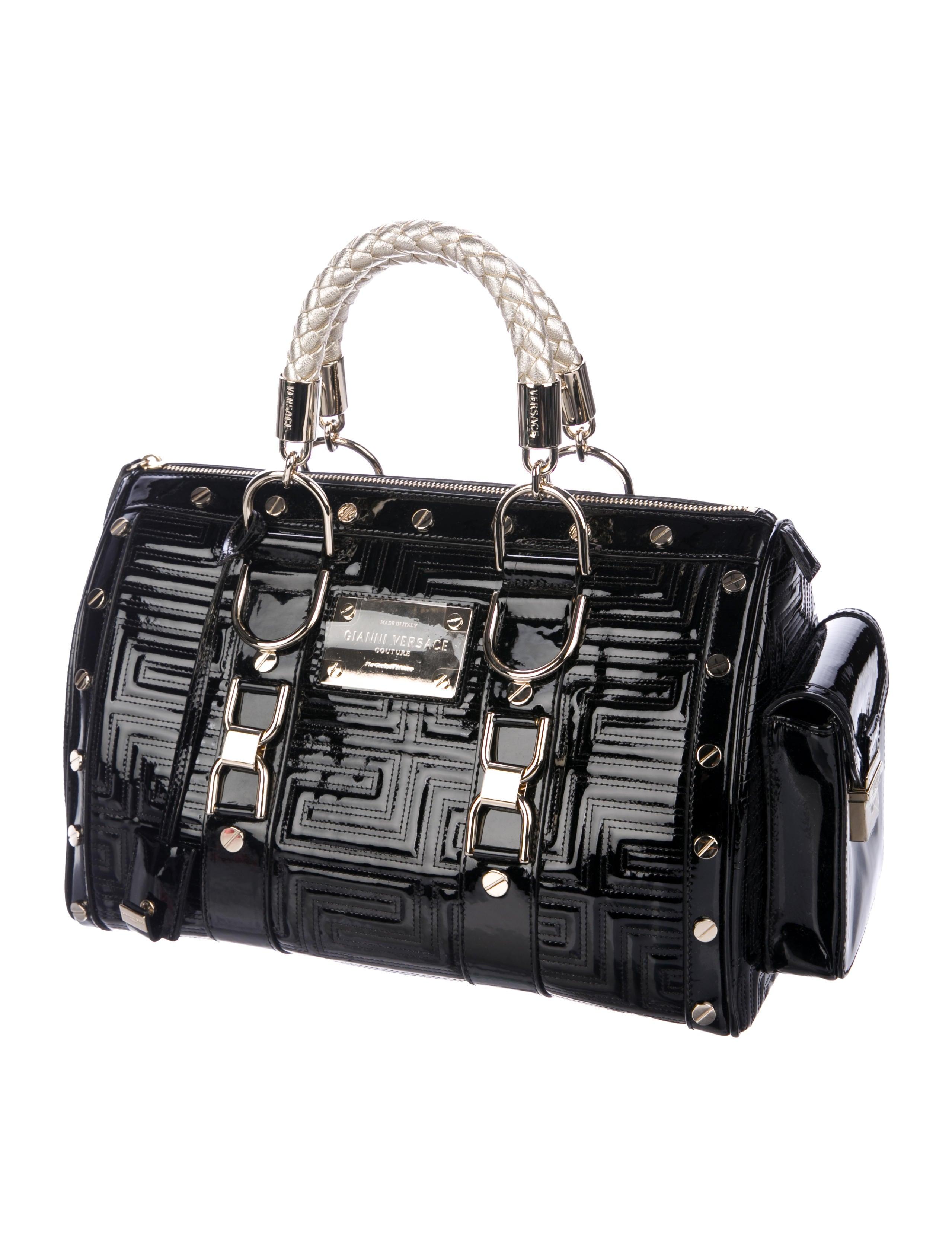 Gianni Versace Madonna Patent Leather Bag - Handbags - GVE21938 ... 07e8abeba4c70