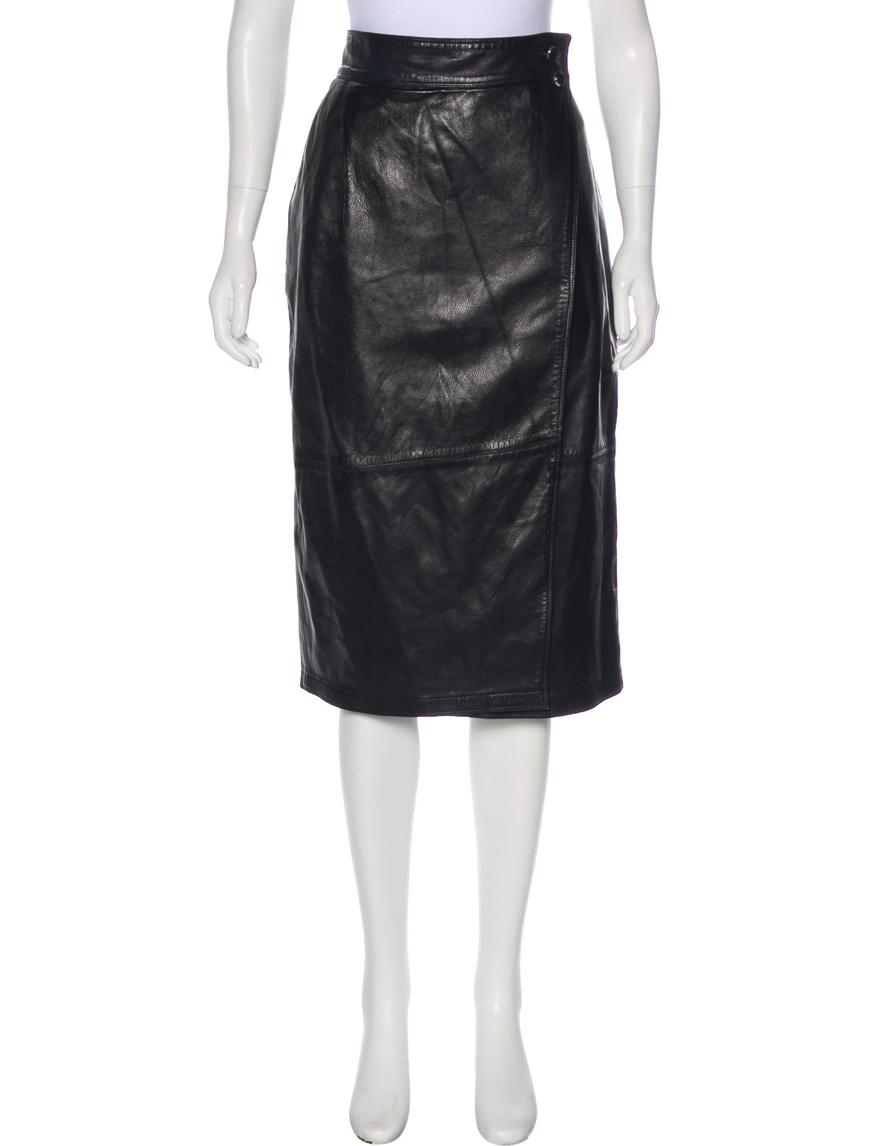 a2f768b3 Vintage Leather Skirt