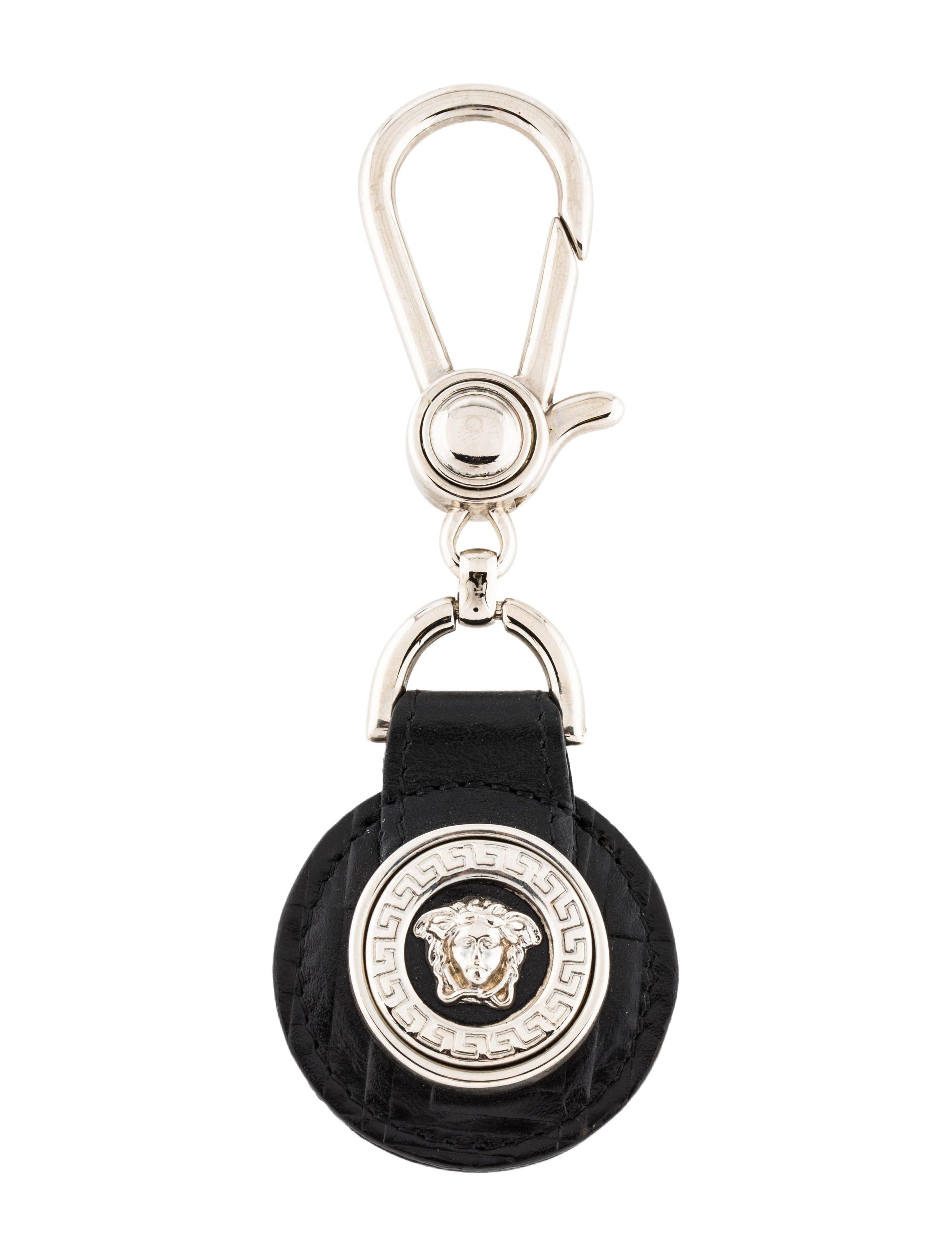 e1f0e89af1ea Gianni Versace Medusa Leather Bag Charm - Accessories - GVE23433 ...