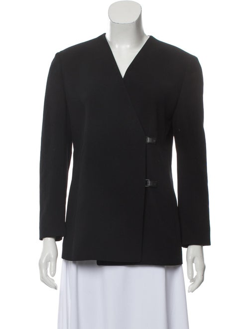 Gianni Versace Vintage Collarless Blazer Black