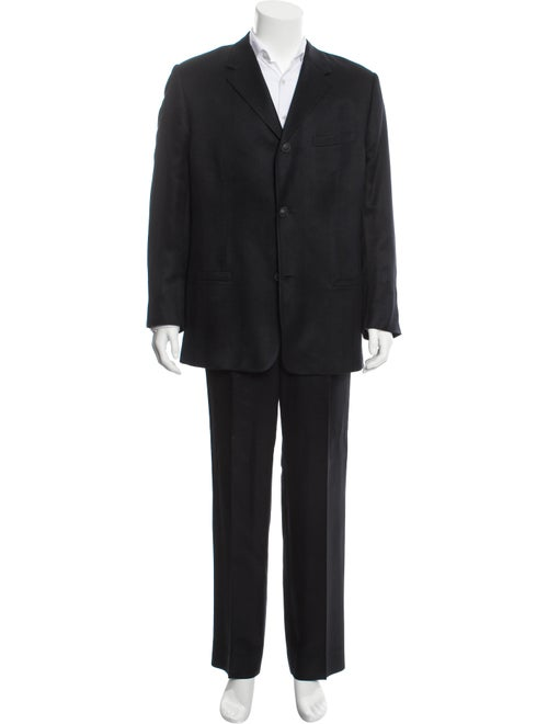 Gianni Versace Silk Two-Piece Suit blue