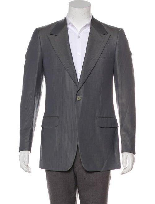 Gianni Versace Wool-Blend Jacquard Blazer grey