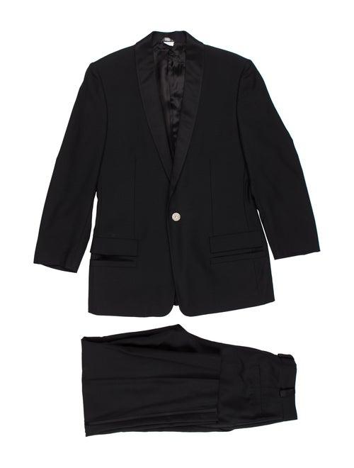 Gianni Versace Wool Tuxedo Set black