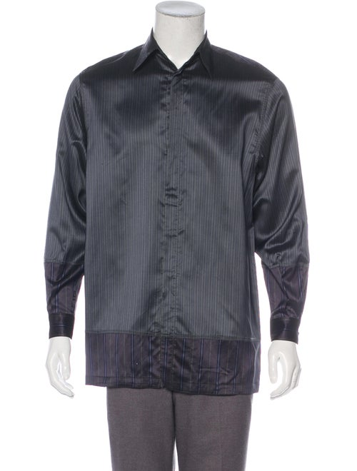 Gianni Versace Silk-Blend Button-Up Shirt
