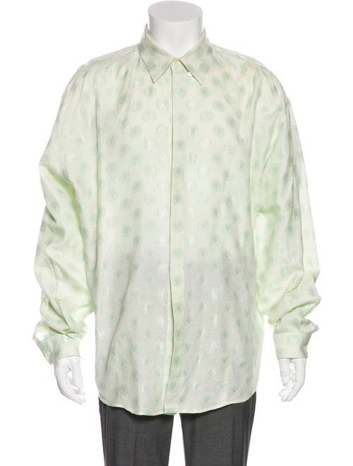 Gianni Versace Vintage Medusa Jacquard Shirt green