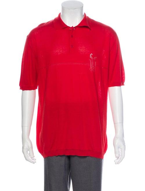 Gianni Versace Knit Polo Shirt