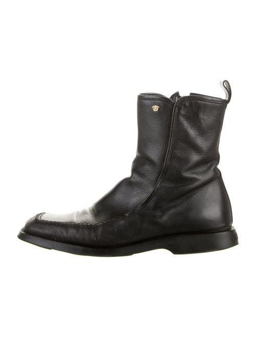 Gianni Versace Leather Boots Black