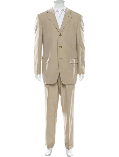 Gianni Versace Silk Polka Dot Print Two-Piece Suit