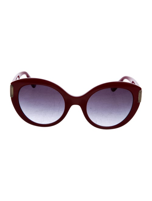 Gianni Versace Round Tinted Sunglasses Red