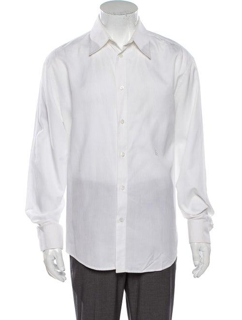 Gianni Versace Striped Long Sleeve Dress Shirt