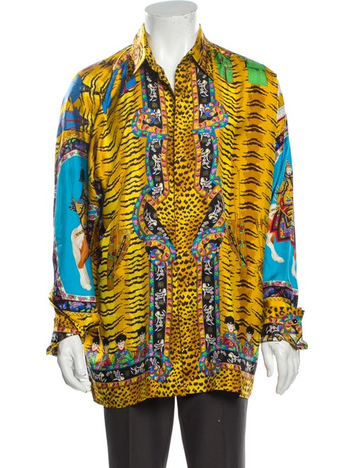 Gianni Versace Vintage 1993 Shirt Yellow