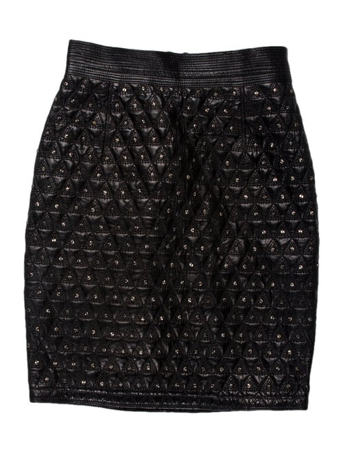 Gianni Versace Vintage Mini Skirt Black