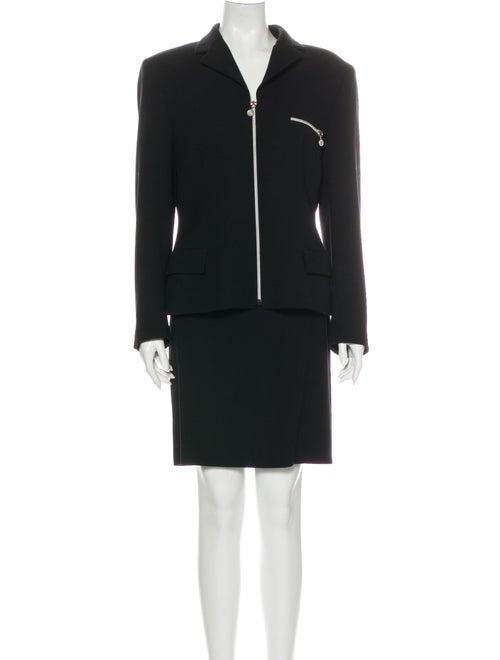 Gianni Versace Wool Skirt Suit Wool