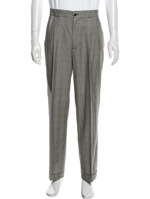 Gianni Versace Plaid Print Dress Pants