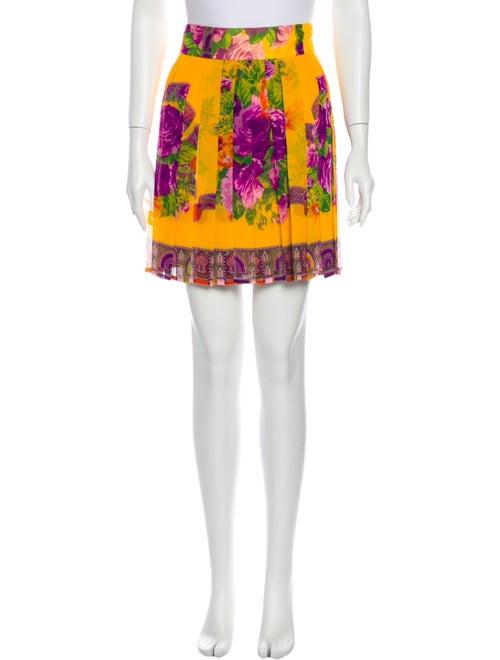 Gianni Versace Vintage Mini Skirt Yellow